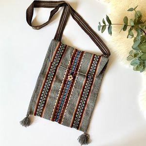 Handbags - Native Boho Woven Tassel Bag Purse Embroidered